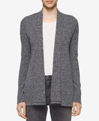Calvin Klein Jeans Marled Open Front Cardigan Black Heather