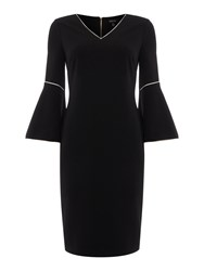 Episode Shift Dress With Bell Sleeve Black