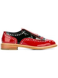 Robert Clergerie 'Disney Royal' Laser Cut Brogues Red