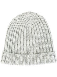 Warm Me Ribbed Beanie Grey