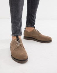 Hudson H By Barnstable Derby Shoes In Taupe Beige