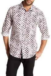 1 Like No Other Long Sleeve Woven Check Classic Fit Shirt Purple