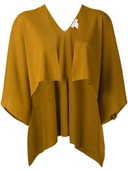 Jucca Open Front Capelet Women Polyester Viscose Xs Yellow Orange