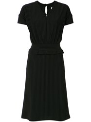 Lilly Sarti Ribbed Midi Dress Polyamide Spandex Elastane Black
