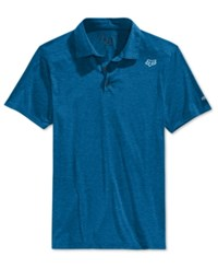 Fox Men's Rookie Polo Heather Blue