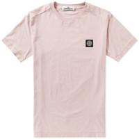 Stone Island Patch Logo Tee Pink