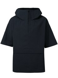 En Route Zipped Neck Hooded Jacket Men Nylon 1 Black