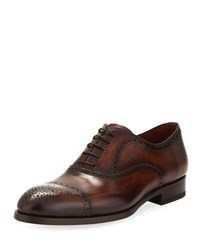 Magnanni Two Tone Lace Up Dress Shoe Brown