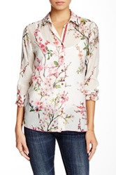 3J Workshop Floral Print Silk Blend Blouse Multi