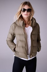 Women's Burberry Brit 'Townfield' Short Goose Down Jacket Clay Green