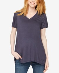 A Pea In The Pod Maternity V Neck Tee Deep River Blue