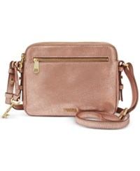 Fossil Leather Piper Toaster Crossbody Rose Gold