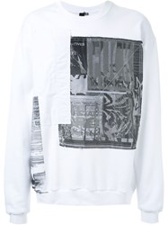 Liam Hodges Patch Sweater White