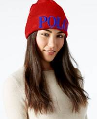 Polo Ralph Lauren Polo Icon Beanie Native Red
