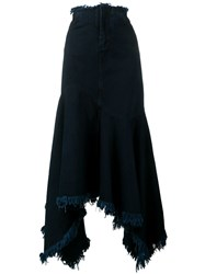Marques Almeida Marquesalmeida Asymmetric Denim Skirt Blue