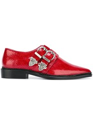 Toga Buckled Pointed Toe Shoes Red