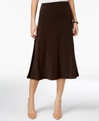 Jm Collection Diagonal Seam Midi Skirt Only At Macy's Espresso Roast
