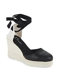 Manebi Canyon Round Toe Wedge Espadrilles Black