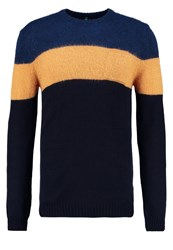 United Colors Of Benetton Jumper Navy Yellow Dark Blue