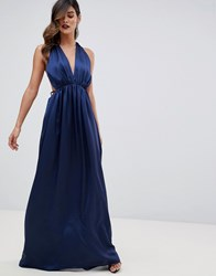 The Jetset Diaries Louvre Plunge Maxi Dress Navy