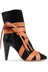 Isabel Marant Nola Suede And Leather Ankle Boots Black