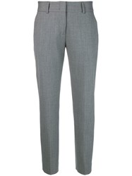 Piazza Sempione Slim Fit Cigarette Trousers Grey