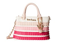 Betsey Johnson Pleats Thank You Satchel Blush Satchel Handbags Pink