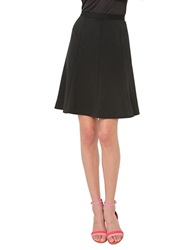 Isaac Mizrahi Pleated A Line Skirt Black