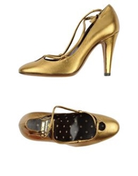 Moschino Cheap And Chic Moschino Cheapandchic Pumps Gold