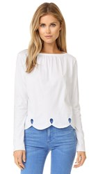 See By Chloe Scallop Trim Tee White