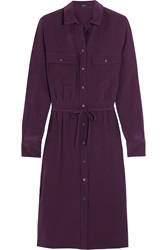 Joseph Caron Silk Shirt Dress