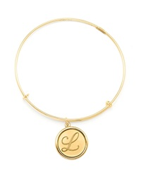 Alex And Ani 14K Gold Filled Initial Expandable Wire Bangle Precious Metal Collection