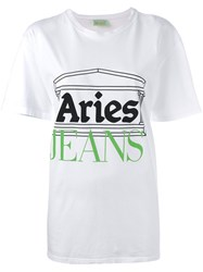 Aries Printed T Shirt Women Cotton 3 White