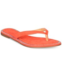 Thalia Sodi Beda Embellished Flat Sandals Only At Macy's Women's Shoes Coral