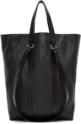 Cnc Costume National Black Straps Leather Tote