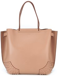 Tod's Classic Shopping Bag Women Calf Leather One Size Pink Purple
