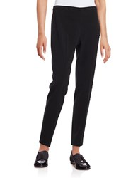 T Tahari Cameron Lace Accented Pants Black