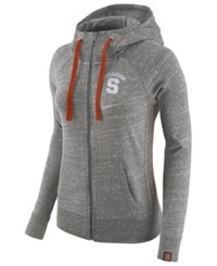 Nike Women's Syracuse Orange Vintage Full Zip Hoodie Darkgray Heather