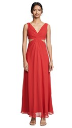 Fame And Partners The Lennox Dress Cherry Red