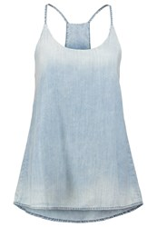 Ltb Annie Top Maderin Wash Light Blue