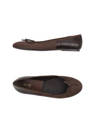 Paola Ferri By Alba Moda Ballet Flats Dark Brown