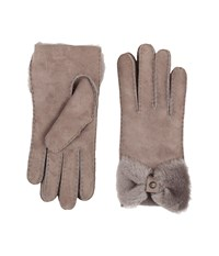 Ugg Classic Bow Shorty Stormy Grey Dress Gloves Gray