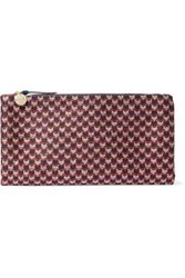 Clare V. Calf Hair Clutch Multicolor