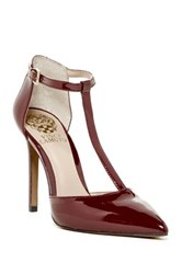 Vince Camuto Nihal T Strap Pump Red