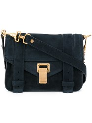 Proenza Schouler Suede Ps1 Mini Crossbody Blue