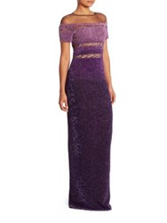 Pamella Roland Signature Sequin Gown Light Purple