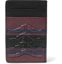 Alexander Mcqueen Ribcage Embossed Leather Cardholder Black
