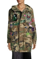 Marc Jacobs Hooded Camouflage Anorak Jacket Multicolor