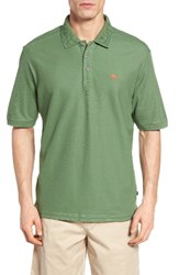 Tommy Bahama Men's Big And Tall 'The Emfielder' Pique Polo Green Pepper