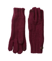 Roxy In Charge Knit Gloves Burgundy Extreme Cold Weather Gloves
